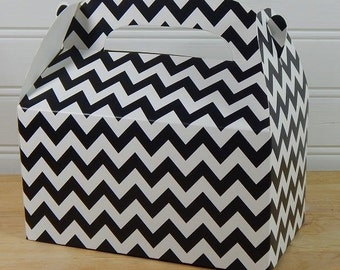 Chevron Gable Boxes 10 In Assorted Colors, Gifts, Party Decorations, Weddings, Crafts