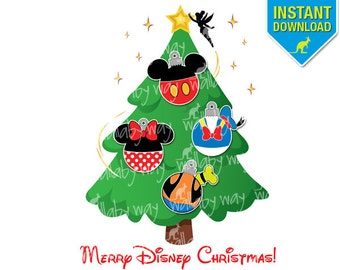 Mickey Head Disney Christmas Chevron 3 Printable Iron On