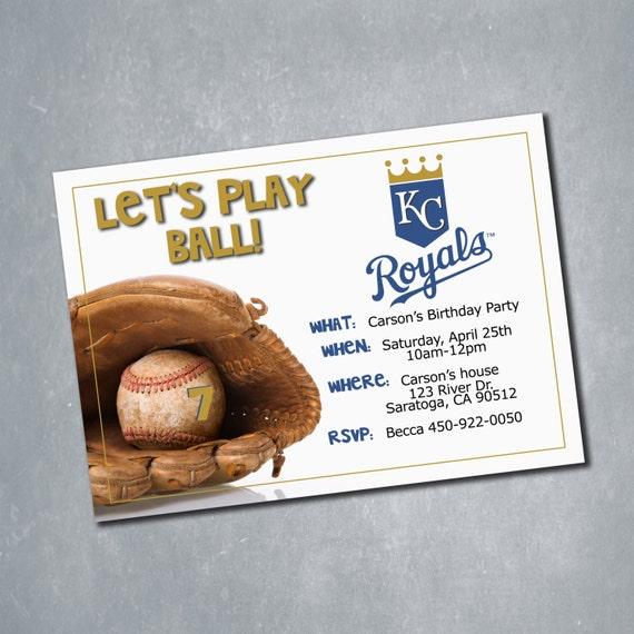 Kansas City Royals Digital Birthday Invitation. By MeghansView