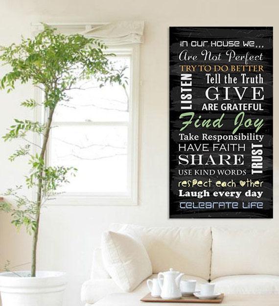 Printable Family Wall Decor : Items similar to printable family sign wall art