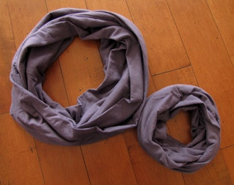 Mommy-and-Me Infinity Scarve Set. Purple Infinity Scarf. Fall Scarf. Winter Scarf. Emily's Scarf Shop