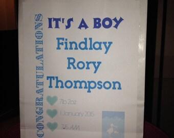 Baby boy personalised gift bag