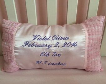 Personalized Infant Keepsake Pillow