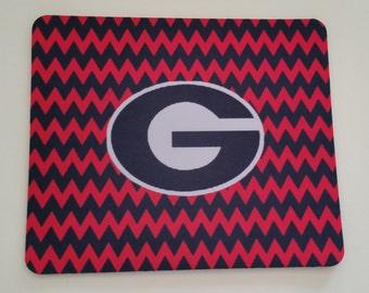 Custom Georgia Bulldogs Chevron Mouse Pad