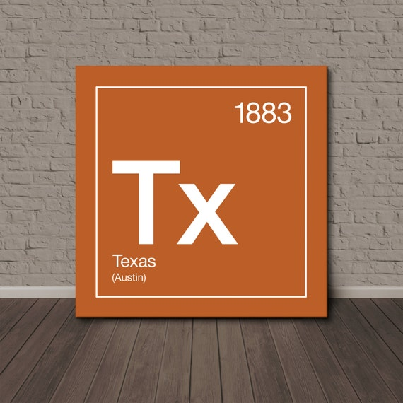 texas periodic table canvas wall art. Black Bedroom Furniture Sets. Home Design Ideas