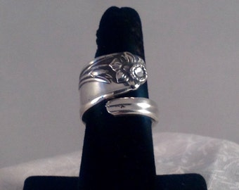 "Spoon Ring Spiral ""Daffodil""#1012"