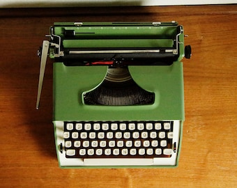 Vintage Remington Green Typewriter