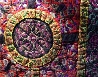 Hand-woven embroidered ethnic Miao. China