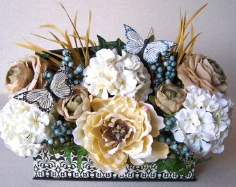 Silk Floral Decorative Box Arrangement