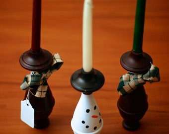 Snowmen/Holiday Candle Holders