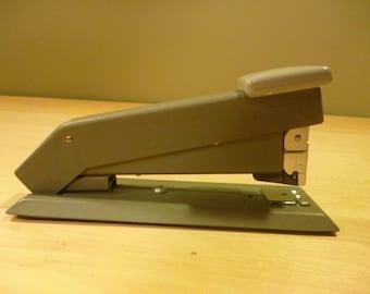 Vintage Industrial Gray Metal Bostich Stapler - Works Great!