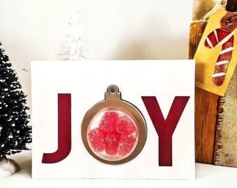 Christmas Card - Christmas Card Handmade - Holiday Card - Handmade Christmas Card - Candy Christmas Card - 3D Christmas Card