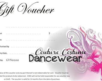 Dancewear Gift Voucher