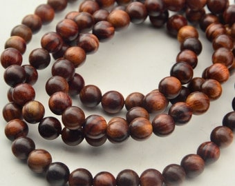 108PCS Natural Rosewood  Beads Tibetan Mala Prayer Beads 8mm 6mm