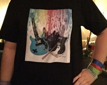 5 Seconds of Summer (5SOS) Instrument Shirt (Calum Hood) (Michael Clifford) (Ashton Irwin) (Luke Hemmings)