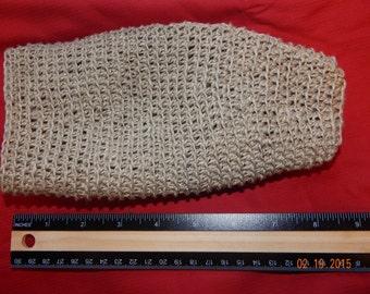 Crocheted Hemp Bath Mitt, Shower Mitt or Glove, All Natural Hemp, Exfoliating Mitt, Eco-friendly, Dry Body Brush
