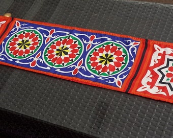 Geometric Arabesque Hand Printed Runner (Medium)
