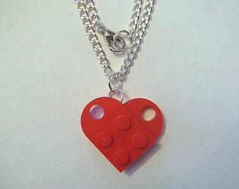 BrickCrafts LEGO® Fashion Heart Pendant Necklace