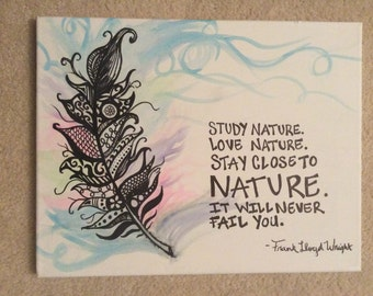 Nature - Feather Painting