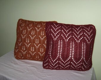 Knitted Lace Accent Pillow