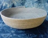 Rope bowl, Large Blue