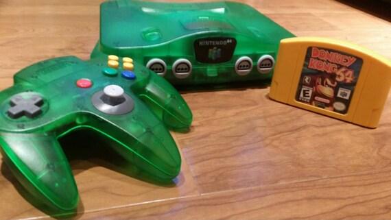 Jungle Green Nintendo 64 n64 console system Donkey Kong 64