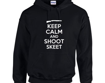 Keep Calm And Shoot Skeet Mens Hoodie  Funny Humor