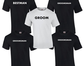 8 Bachelor Party T-Shirts.  Mens Bridal Party Shirts.  Groomsmen Shirts.  Groom Shirt.  Best Man Shirt.  Bachelor Party Gifts.  B002