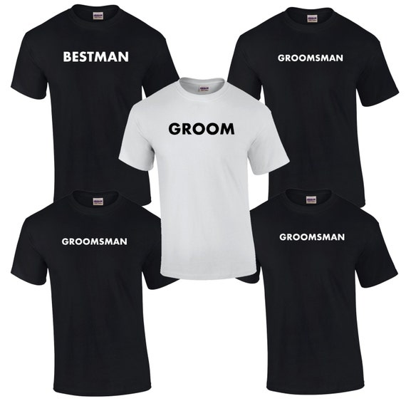 Wedding Gifts Best Man: 5 Bachelor Party T-Shirts. Mens Bridal Party Shirts