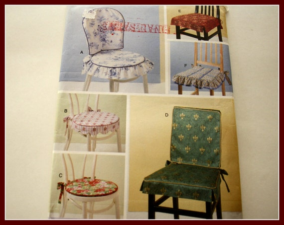 Chair Pad Covers Pattern Ucut Butterick 5606 Kitchen Or