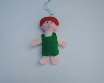 Joshua ornament felt, boy, green