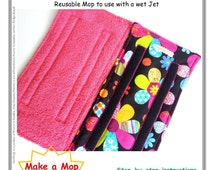 Learn how to make Reusable Mop Pads for Swiffer Wet Jet and Duster Covers, SEWING  PATTERN PDF and Tutorial