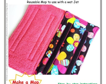 Learn how to make Reusable Mop Pads for Swiffer Wet Jet, SEWING  PATTERN PDF Tutorial