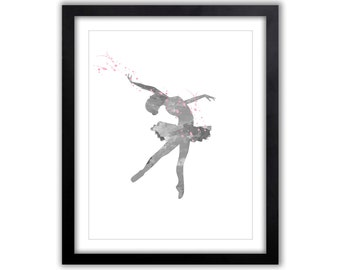 Watercolor Art Print - Dance - Ballet Wall Art - Ballerina - Contemporary Wall Art For The Home - Gift For Dancer - Dance Gift - FIG018