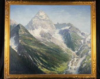 Henry Joseph Breuer Mount Assiniboine British Columbia Canada Oil Painting