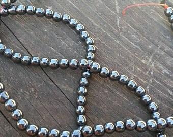 4mm Hematite Beads