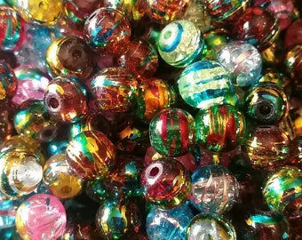 Mixed Glass Drawbench Beads