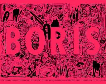 Boris, Torch, Clouds Concert Poster S/N Screenprint Metal Pink
