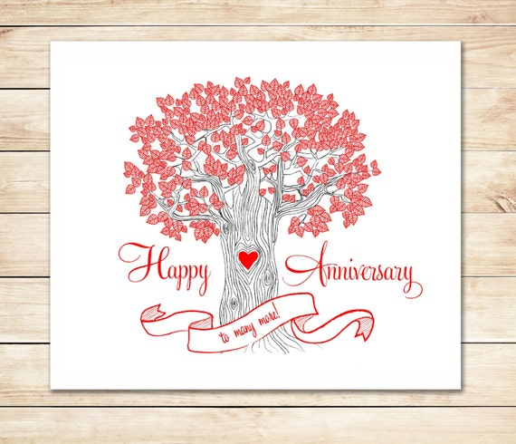 Crafty image inside printable anniversary cards