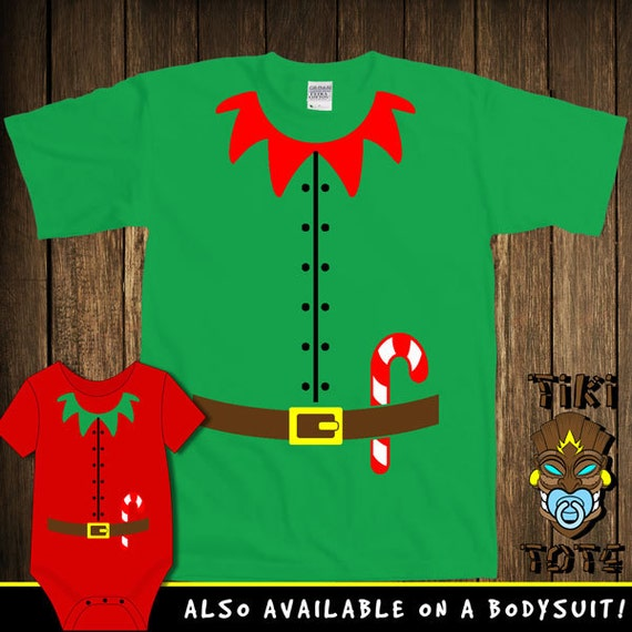 Funny Elf Costume Santa's Helper Christmas Bodysuit Toddler Youth T-shirt Tee Shirt Buddy The Elf Elves Santa Cute Infant Clothes Gift