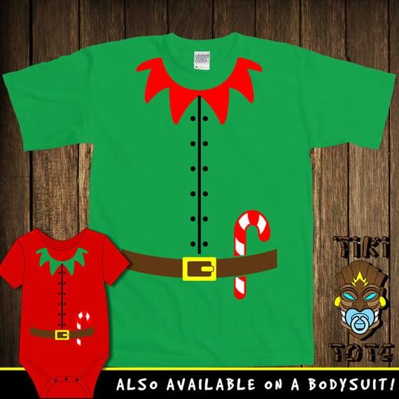 Funny Elf Costume Santa's Helper Christmas Bodysuit Toddler Youth T-shirt Tee Shirt Buddy The Elf Elves Santa Cute Infant Clothes Gift