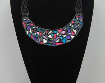 Necklace Coloful Triangles Bohemian Gypsy Hippie Abstract / necklace colorful triangles Hippy Bohemian abstract