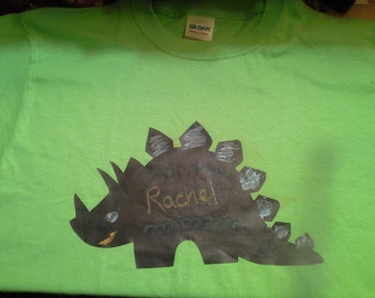 Chalkboard T-Shirt,  stegosaurus