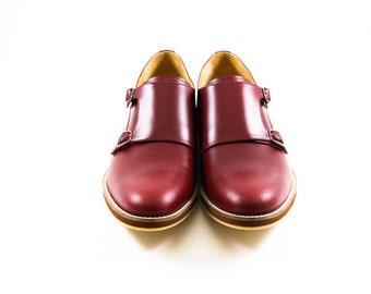 LANEY SHOES - Monk Shoes - Burgundy - Men's