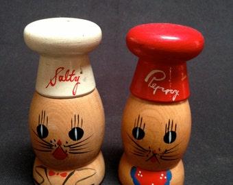 Vintage Salty & Peppy Salt and Pepper Shakers
