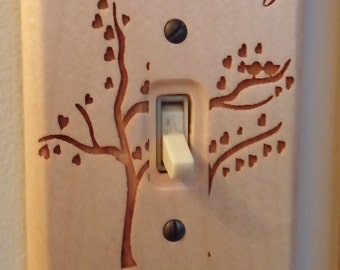"Custom Lasered ""Family Love"" Light Switch Cover"