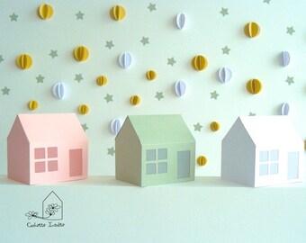 Diy lanternes de no l en papier imprimer fiche cr ative diy - Maison en papier a imprimer ...