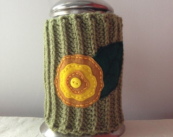Flower Crochet French Press Cozy, Coffee Press Cozy, French Press Cover by Maroozi