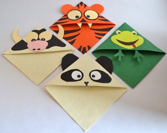 frog corner bookmarks items similar to panda corner bookmark on etsy 2054