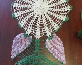Flower Doily, Hand crocheted